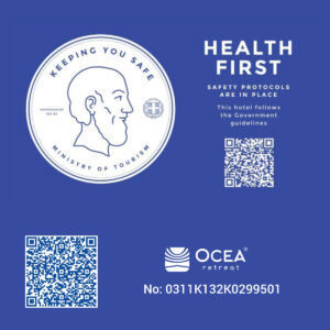 Ocea Retrieat Goverment Certification for complying with safety Convid-19 measures 3